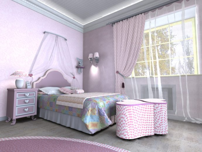 красивая комната для девочки
