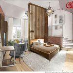 яркая детская спальня в стиле лофт фото интерьера