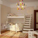 яркая спальня в дизайне прованс для девочки картинка
