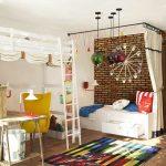 большая детская комната в стиле лофт фото интерьера