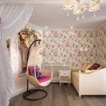 светлая детская спальня в стиле прованс для девочки картинка