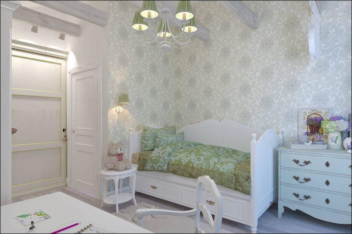 шикарная детская комната в дизайне прованс для девочки