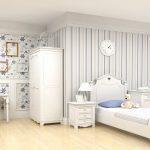 шикарная спальня в стиле прованс для девочки картинка