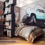 светлая спальня в стиле лофт фото интерьера