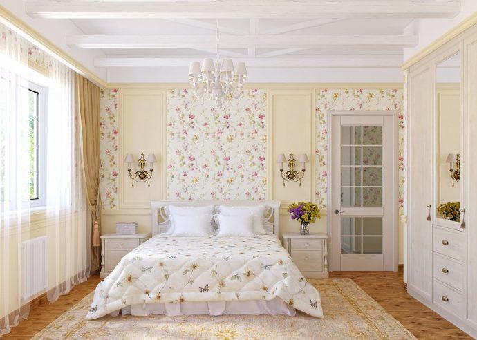 светлая спальня в дизайне прованс для принцессы