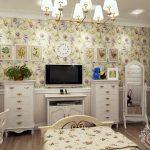 светлая спальня в стиле прованс для принцессы фото