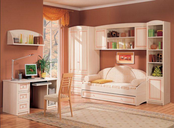 красивая мебель в детскую комнату для девочки