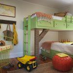 большая детская спальня для двух мальчиков интерьер фото