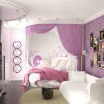 чудесная детская спальня для девочек интерьер