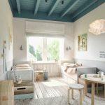 уютная комната в скандинавском интерьере
