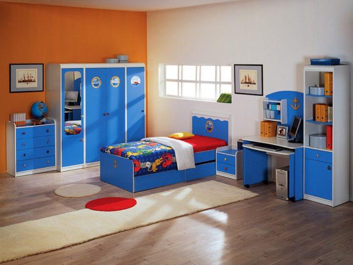 корпусная мебель для мальчика в спальню дизайн