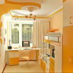 цветная мебель в детскую спальню для девочки пример