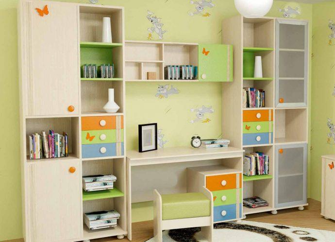 красивая функциональная мебель в детскую комнату для девочки фото