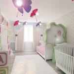 светлая детская спальня девочки интерьер