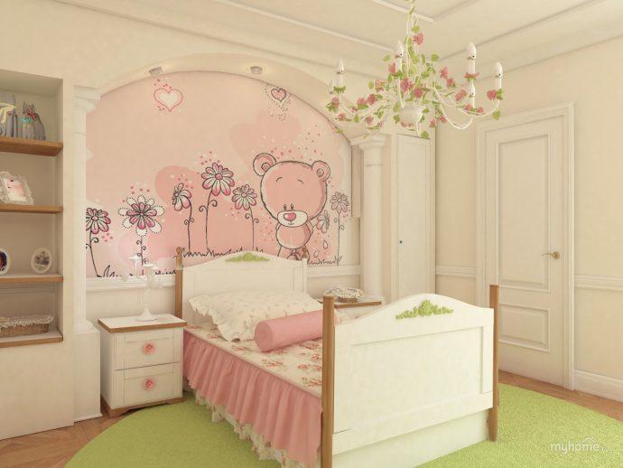 красивая детская комната в стиле прованс для девочки фото