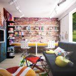 дизайнерская спальня в дизайне лофт фото интерьера