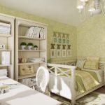 шикарная детская спальня в стиле прованс для девочки картинка