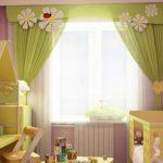 светлые шторы в спальню в интерьере спальни фото