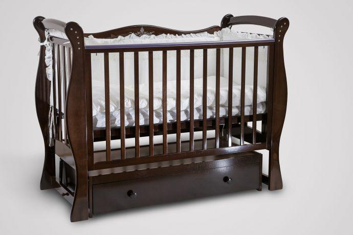 маленькая детская кроватка трансформер маятник для девочка