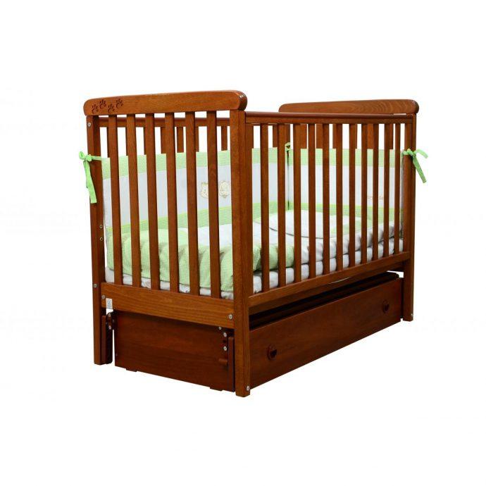 удобная кроватка трансформер маятник для девочки из дерева