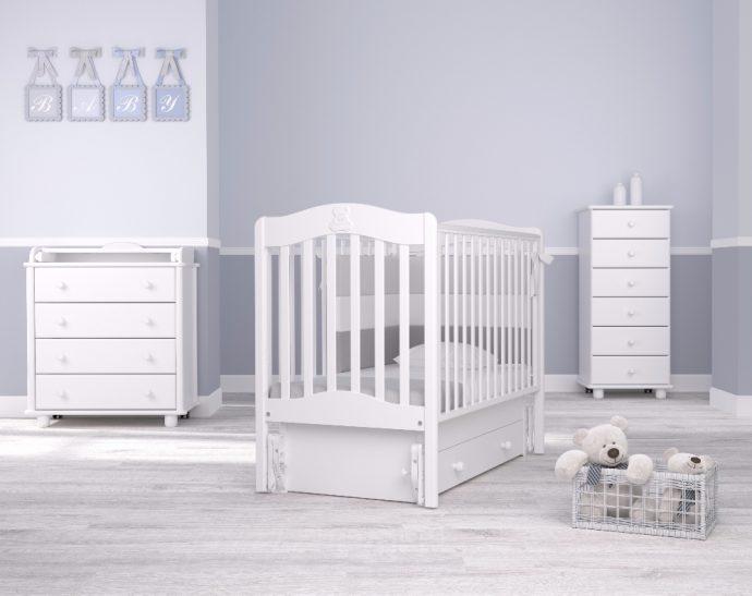 удобная кроватка для ребенка трансформер маятник для мальчика