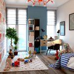 светлая детская комната в скандинавском интерьере