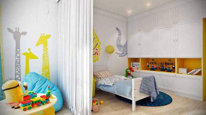 компактная комната в скандинавском стиле