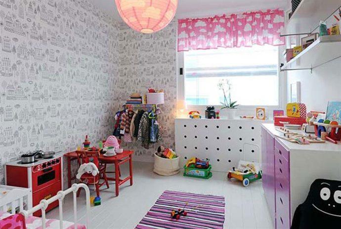 яркая комната в скандинавском дизайне