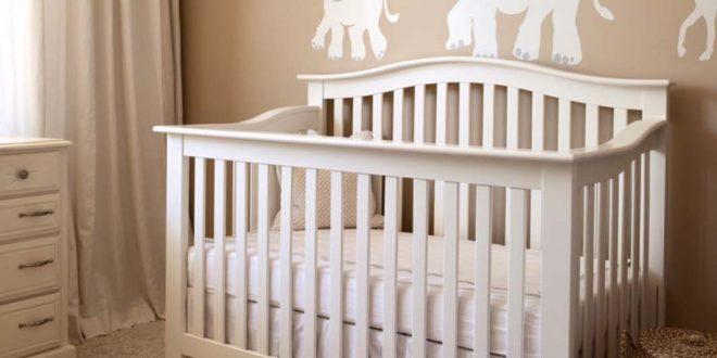 детская кровать белая