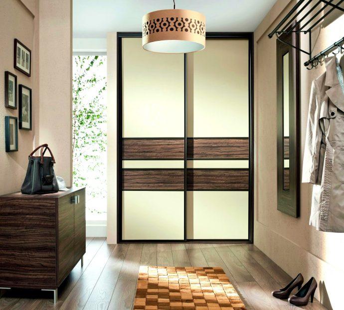 широкий шкаф-купе в прохожую комнату