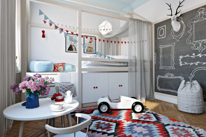 пример игровой комнаты в скандинавском стиле