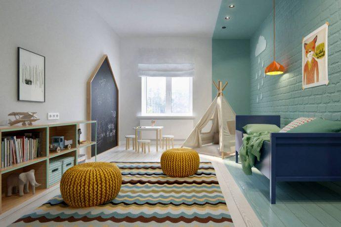 дизайн детской комнаты в скандинавском интерьере