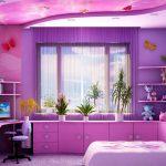 вид детской комнаты в необычном стиле