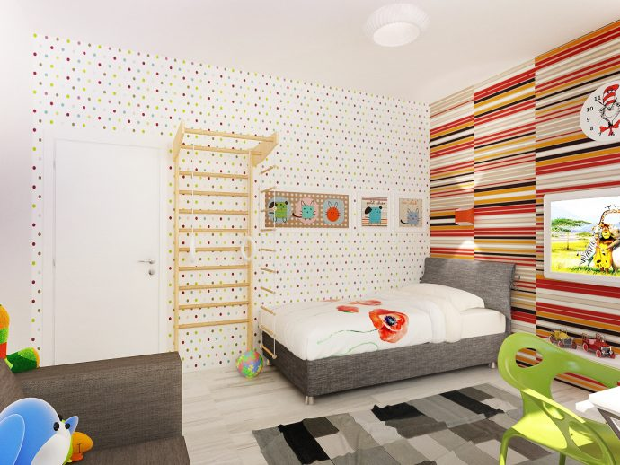 интерьер комнаты в скандинавском интерьере
