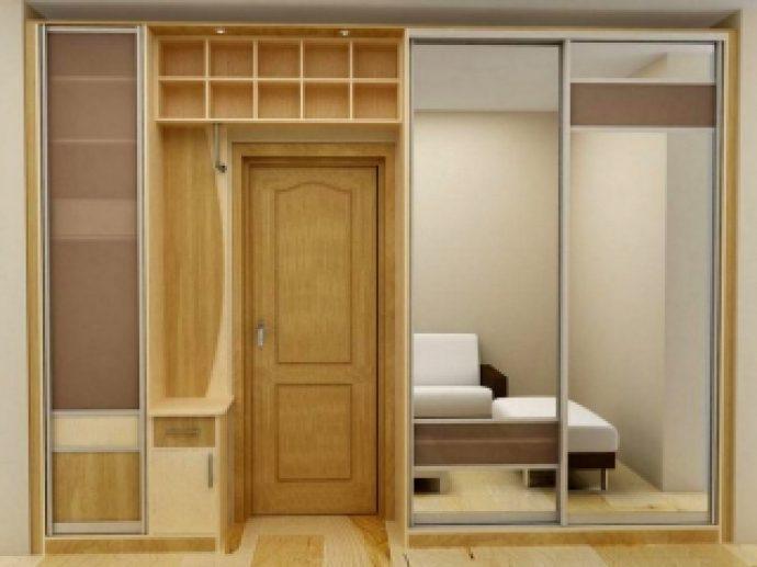 интерьер шкаф светлый в прохожей комнате
