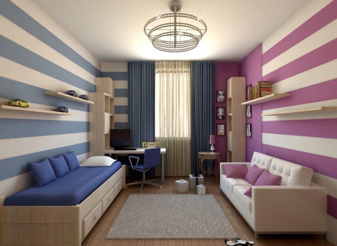 дизайнерская детская комната для двоих мальчиков интерьер