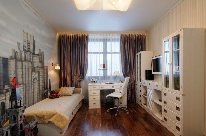 большая детская спальня для двух мальчиков дизайн картинка