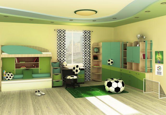 большая спальня для двух мальчиков дизайн картинка