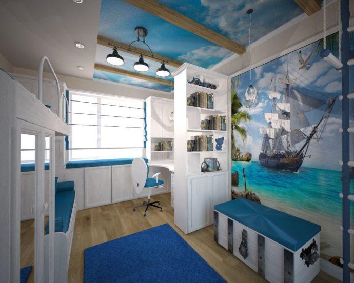 красивая комната для мальчика небольших размеров