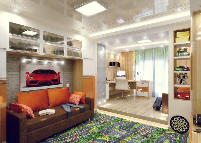 небольшая комната для мальчика маленькая пример дизайна
