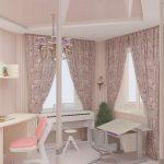 светлая детская в дизайне прованс для принцессы фото