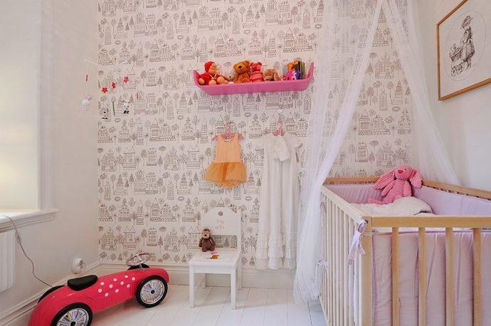 красивая комната в скандинавском интерьере