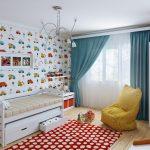 оригинальная детская комната в скандинавском дизайне