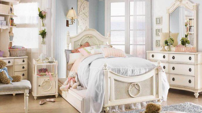 красивая детская спальня в стиле прованс для девочки