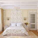 светлая детская спальня в дизайне прованс для девочки фото