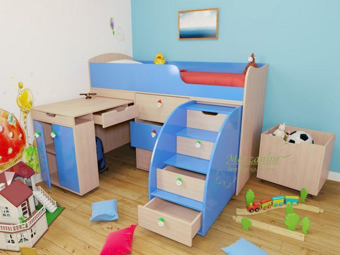 большая детская кровать чердак в детскую фото дизайна