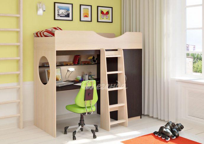 двухъярусная кровать чердак в дизайне комнаты фото дизайна