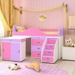 двухъярусная кровать детская чердак в дизайне комнаты пример