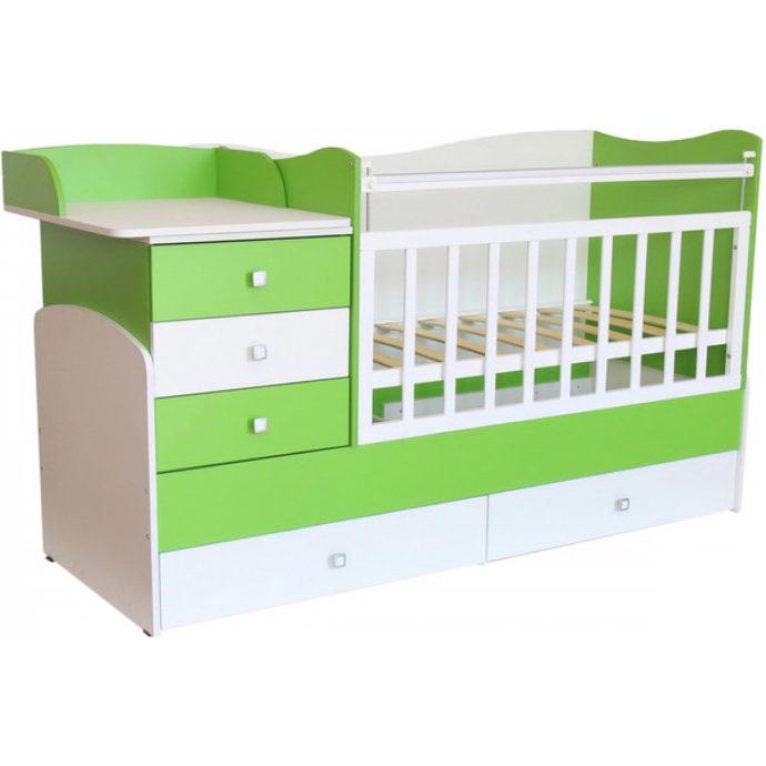 яркая кроватка трансформер для малыша фото