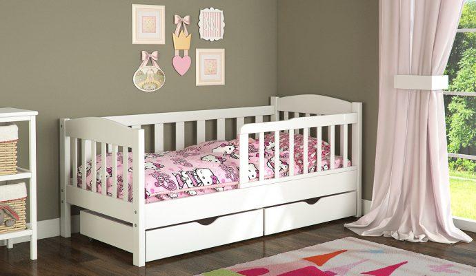 Детская кровать с бортиками для детей от 3 лет